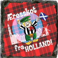 Honorary Scot From Holland. Medium Square Slate JB_16_MSL